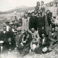 Konstantinos Kazis, on an excursion, with relatives, to Nikiforos, Drama. From the private collection of Thanasis Kazis.